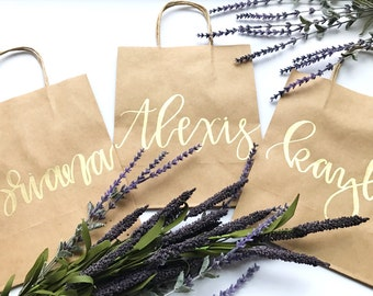 "Custom Gift Bags | Personalized Gift Bags | 8""x10"" Kraft Paper Bag 