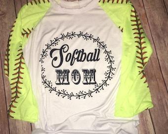 Softball mom shirt, softball apparel, baseball mom, baseball bling, softball bling, girls softball shirt