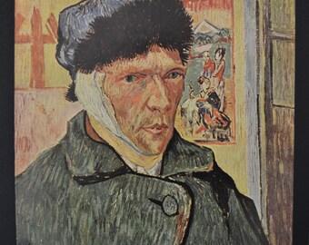 Van Gogh's Self Portrait with Bandaged Ear Vintage Print