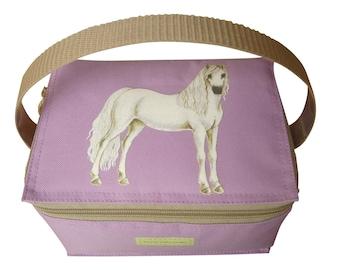 Horse lunchbag - lilac