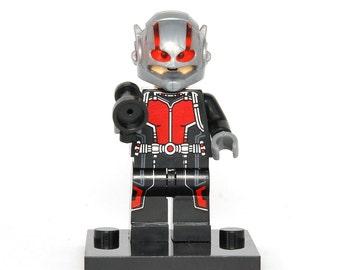Ant-Man Custom Minifigure Avengers Comics Compatible With Lego Super Hero Blocks Bricks Building Toys