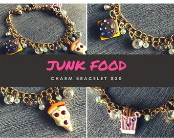 Junk Food Charm Bracelet