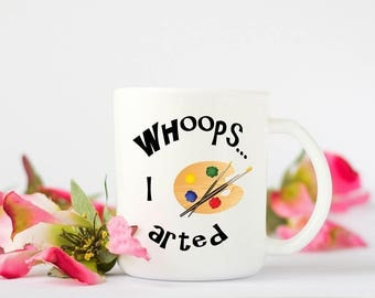 Art themed mug, perfect Birthday gift for the artist or budding artist.
