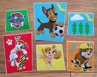 Brand new iron on Paw Patrol motifs/embellishments/patches ideal for craft