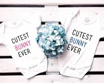 Cutest Bunny Ever onesie, baby girl Easter onesie, baby boy Easter onesie, bunny onesie, baby girl onesie, baby boy onesie, baby shower gift