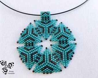 Necklace made with Miyuki earring - Peyote triangle loom -