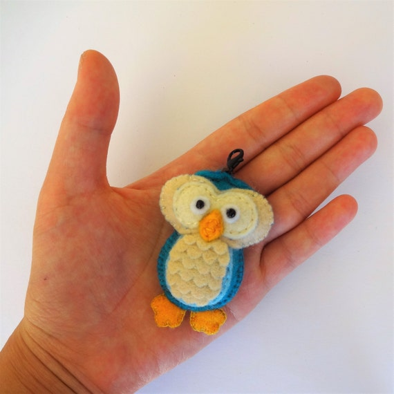 Tropical Blue Owl Charm