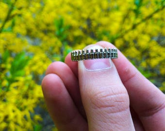 Cartridge Ring Free Shipping Handmade Sterling Silver  Unique Handcrafted Jewelry