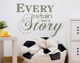 Laundry Quote Decals, Laundry Room Decal, Laundry Room Wall Decal, Laundry Quote Vinyl Wall Decal, Laundry Decal, Every Stain has Story 0001