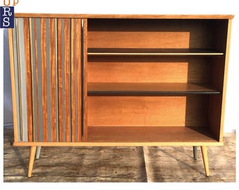 SOLD! Mid Century Modern Upcycled Cabinet Vintage Retro Furniture Dansette Atomic