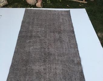 floral pattern desing rug,vintage rug,oushak rug,area rug, 3''7 x 6''8ft.floor rug,deco rug,hallway rug