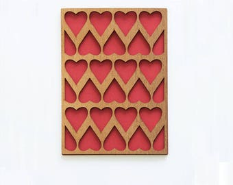 Wood card heart