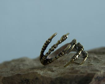 Dark souls ring, Ring - Dragon's Claw, Gothic Ring Dragon Ring Claw Ring Victorian Ring Fleur De Lis Ring Universal size