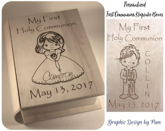 Personalized First Communion Keepsake Boxes **Preorders Being Taken for April/May 2018 Delivery**