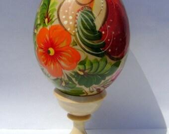 Easter Art Wooden Egg