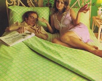 1970s Dri-Glo Sheets Advertising Retro Magazine Ad
