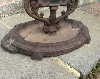 Antique Victorian cast iron boot scraper