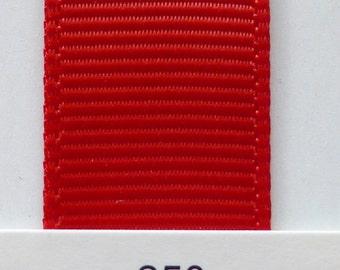 """3/8"""" / 10mm Solid Grosgrain Ribbon RED #250 X 2 METERS"""