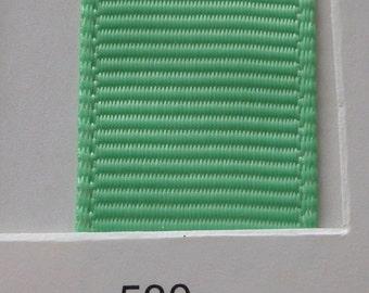 "3/8"" / 10mm Solid Grosgrain Ribbon MINT #530 X 2 METERS"