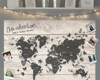 Personalised Travel Map Board