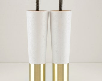 Set of 2-Mid century Modern Furniture Legs Replacement Fits Ikea style sofa