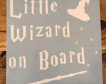 """Little Wizard On Board Car Decal -customize by color 8.5""""x8.5"""""""