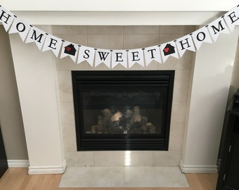 Home Sweet Home Banner, Welcome Home, New Home, House Warming Party, First Home, Welcome Home Sign, Home Sweet Home Sign, Flag Banner