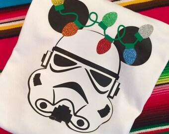 Star Wars -Custom Storm Trooper Christmas shirt - Disney Christmas Shirt- Disney Shirt- Add a name for FREE