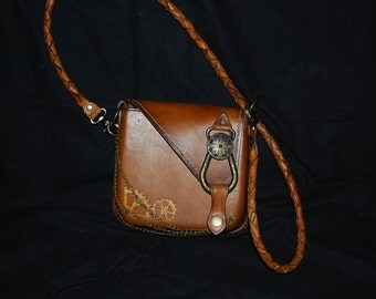 Leather and brass bag