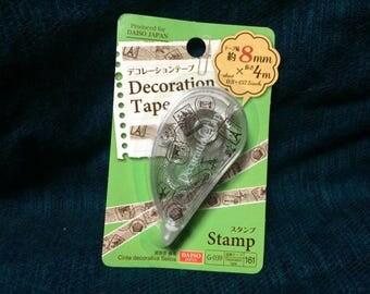 Kawaii stamp Mini Deco Tape from Japan