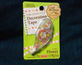 Kawaii flower green Mini Deco Tape from Japan