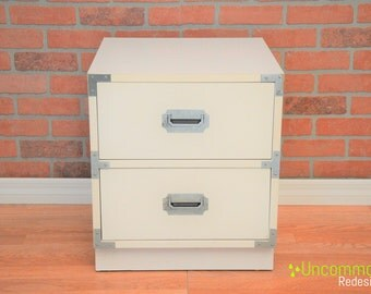 Custom pick your color! Bernhardt Campaign Nightstand