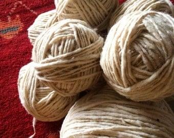 Hand-spun Raw Wool