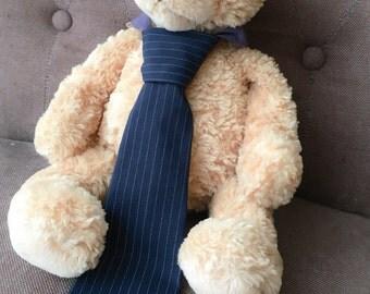 Toddler Necktie Navy Pinstripe - Sizes 1-3