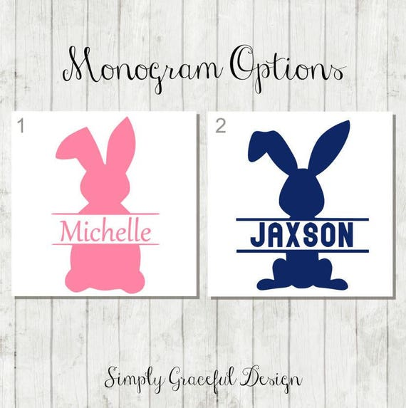 Personalized Easter Bunny Decal Diy Easter Bucket Decal