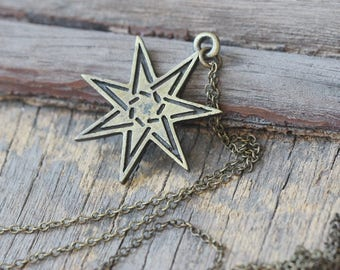 7 pointed Star pendant necklace