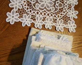Vintage and new fabric and lace lot 5