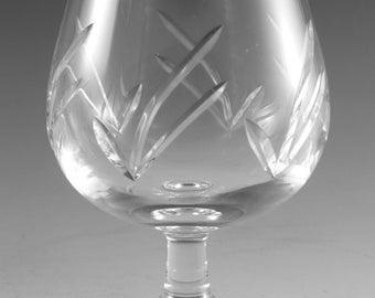 "EDINBURGH Crystal - MRUK6 Cut - Brandy Glass / Glasses - 4 3/4"" (1st)"