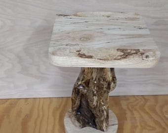Maple burl end table    *free shipping*