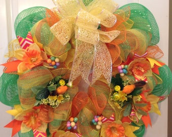 Vibrant with Color Summer Wreath