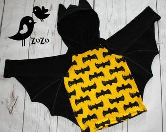 Bat hoodie with wings