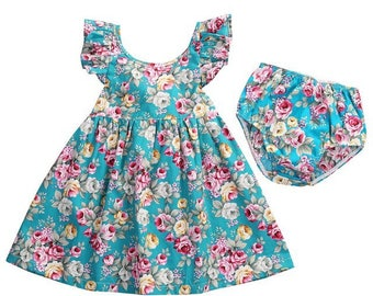 12 months old Adorable baby girls dress and matching knickers 12 months old