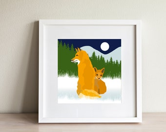 Fox Print - contemporary design, modern prints from Scotland
