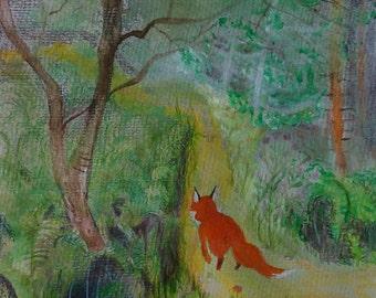 The Wild Fox - Postcard a7