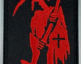 Reaper! Patch. Death. Embroidery