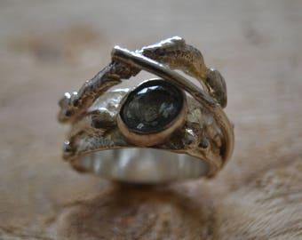 Aquamarine Gem Stone Ring