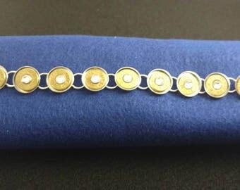 Bullet bracelet with swarovski crystals