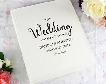 Personalised Rustic Wedding Album