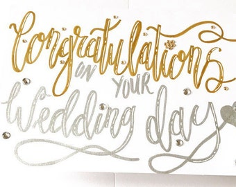 Wedding Card / Congratulations on your wedding / Congratulations / Wedding