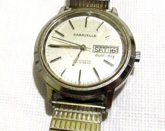 Caravelle Mens Watch Set-O-Matic Automatic N9 Day Date 1353.50 Movement